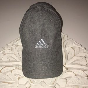 Gray women's adidas hat